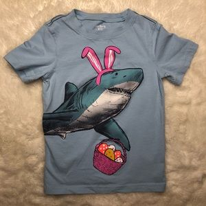 Carter's Easter Shark T-Shirt Blue Size 4T